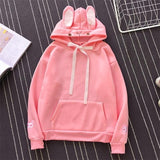 Sweet Rabbit Ears Hooded Sweatshirt Women