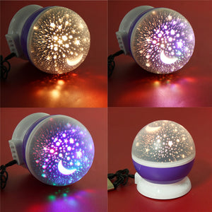 Romantic Starry Sky LED Projector USB Night Light Creative Party