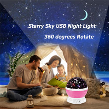 Load image into Gallery viewer, Romantic Starry Sky LED Projector USB Night Light Creative Party