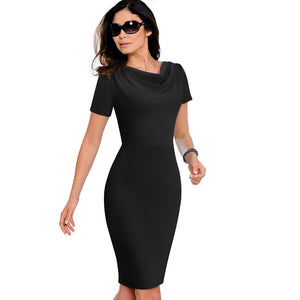 Office Ruffle Female Dress