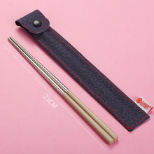 Load image into Gallery viewer, Stainless Steel Chopsticks Portable Travel