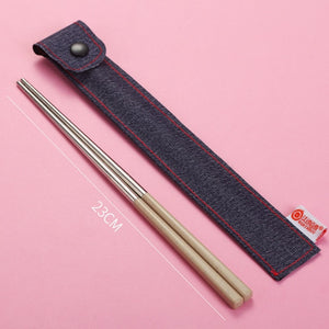 Stainless Steel Chopsticks Portable Travel