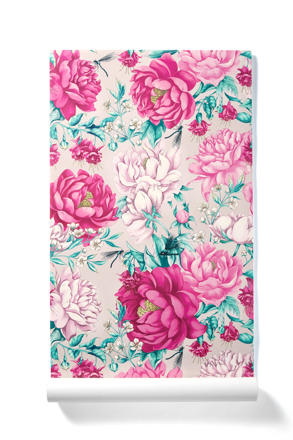 Everyday Miracles - Oversized Blush & Hot Pink Peony Floral Wallpaper