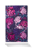 Lush Dreams - Oversized Dark Peony Floral Print Wallpaper, Polished Finish