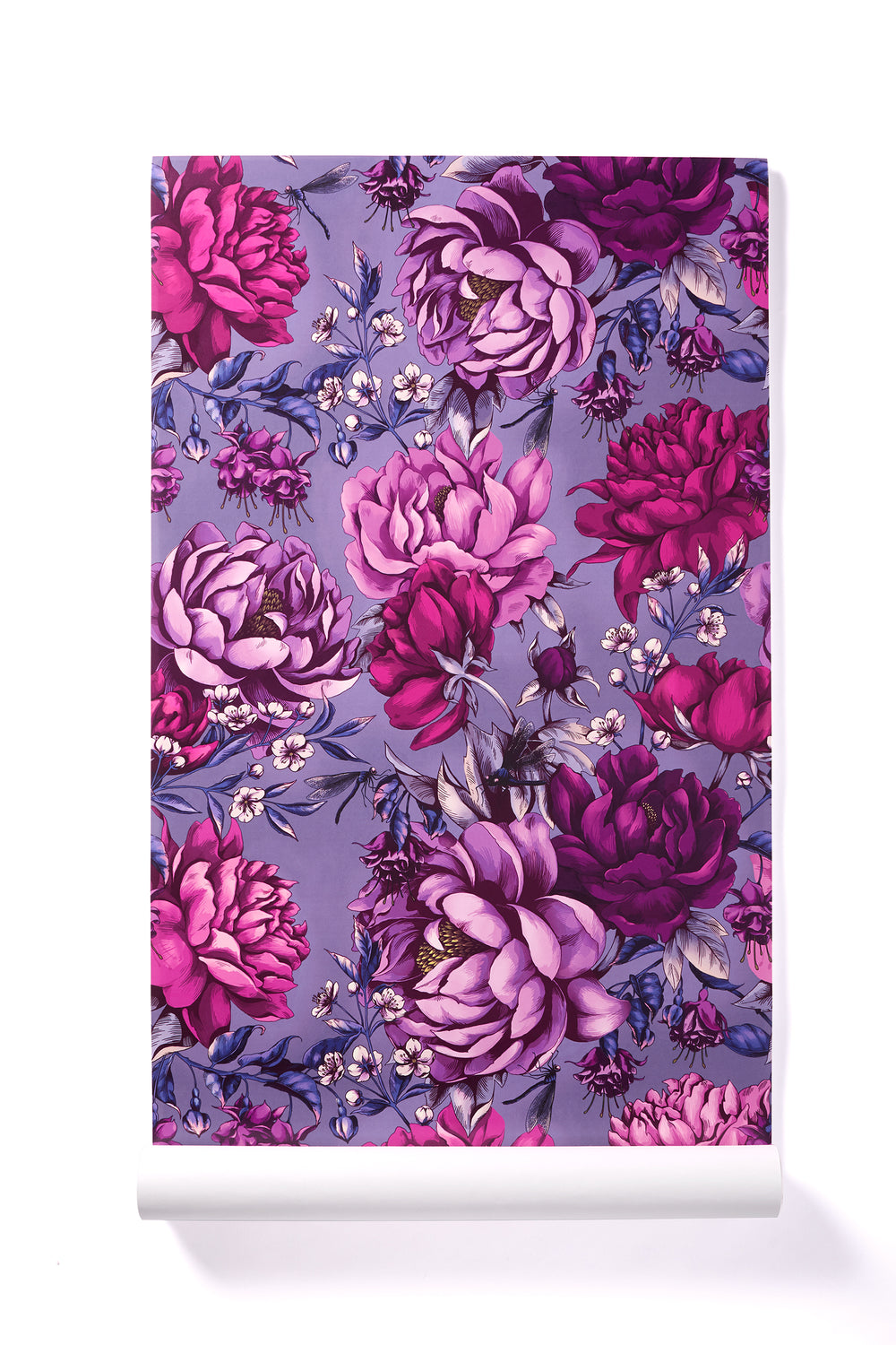 Enraptured Heart - Oversized Pink & Purple Peony Floral Wallpaper