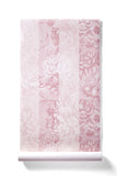 Whimsical World - Oversized Pale Pink Peony Stripe Floral Wallpaper