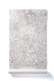 Inspiration Whispers - Oversized Light Grey Peony Floral Wallpaper