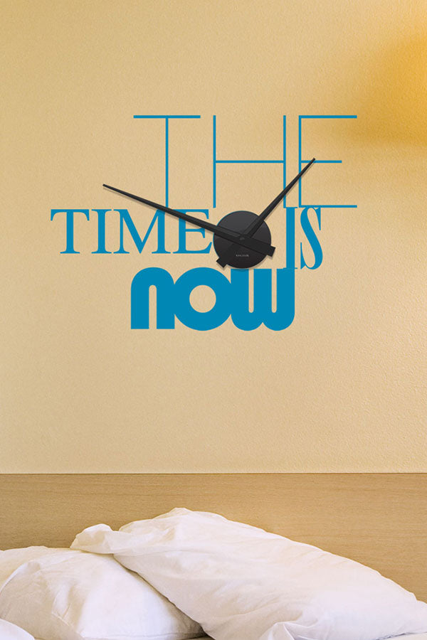 Sticker horloge murale The Time is Now (45x32 cm)