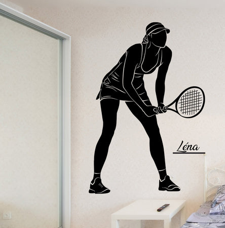 Sticker tennis personnalisable - Fille