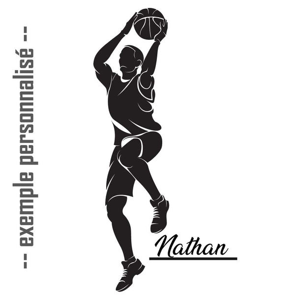 Sticker basketball personnalisable