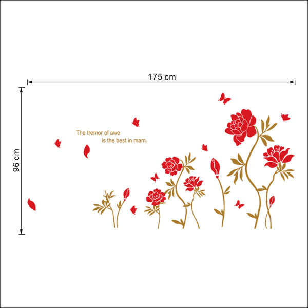 Sticker Tapis de roses