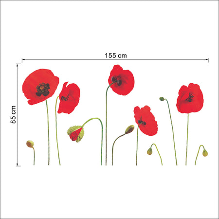 Sticker Coquelicots (Grand format)