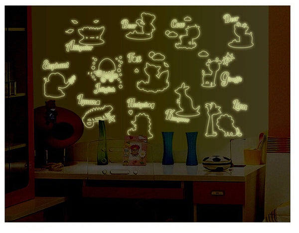 Sticker phosphorescent formes d'animaux