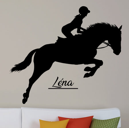 Sticker equitation personnalisable