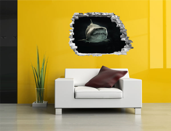 Sticker trompe l'oeil - Requin