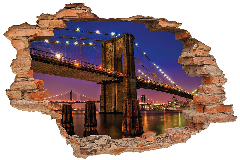 Sticker trompe l'oeil - Pont de brooklyn
