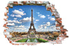Sticker trompe l'oeil - Tour eiffel
