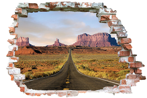 Sticker trompe l'oeil - Route 66