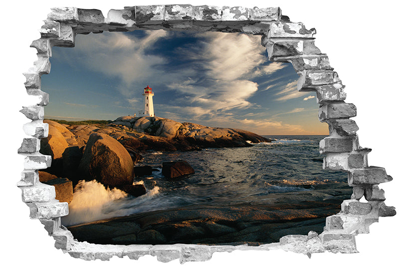 Sticker trompe l'oeil - Phare