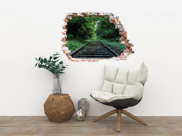 Sticker trompe l'oeil - Rails