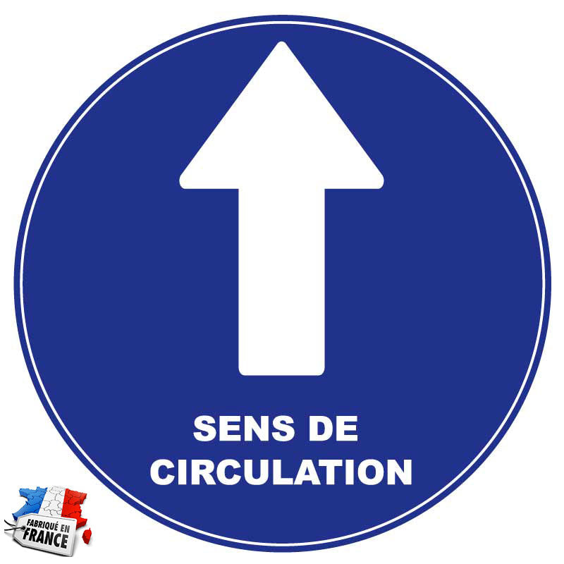 Sticker pour sol - sens de circulation - Covid19