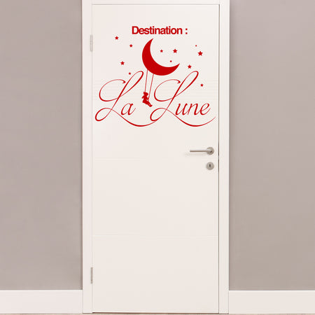Sticker Destination la lune