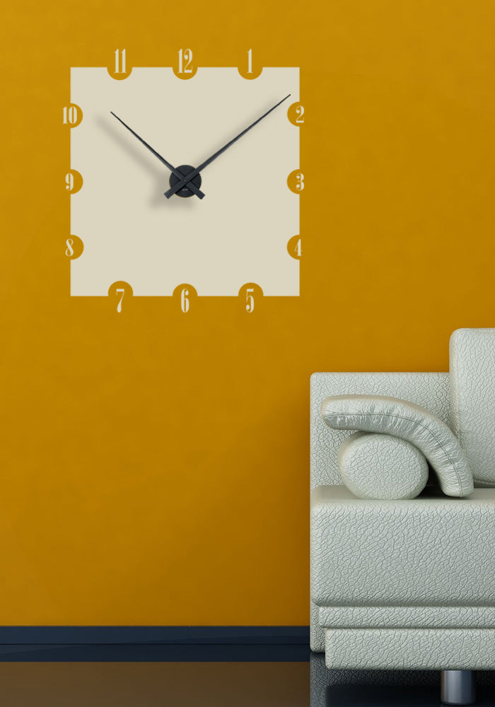 Sticker horloge murale Simple (57x62 cm)
