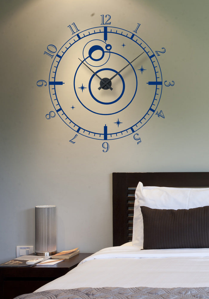 Sticker horloge murale Constellations (66x66 cm)