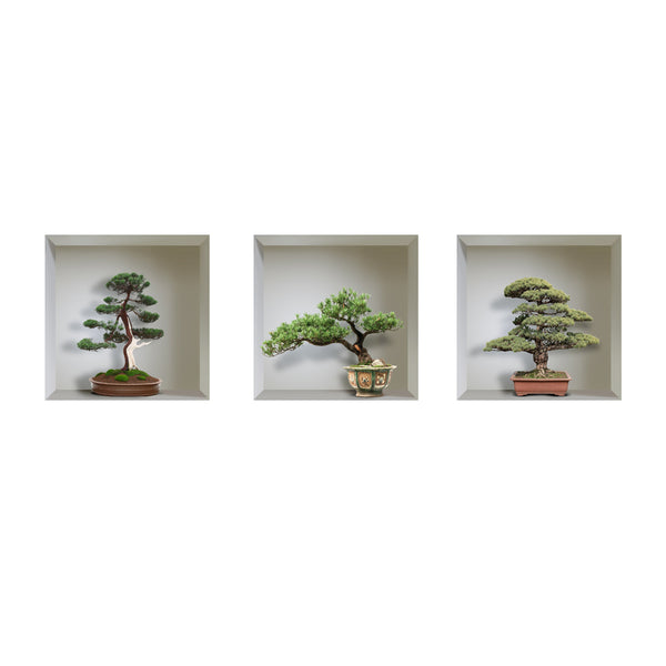 Sticker effet 3D - Bonsai