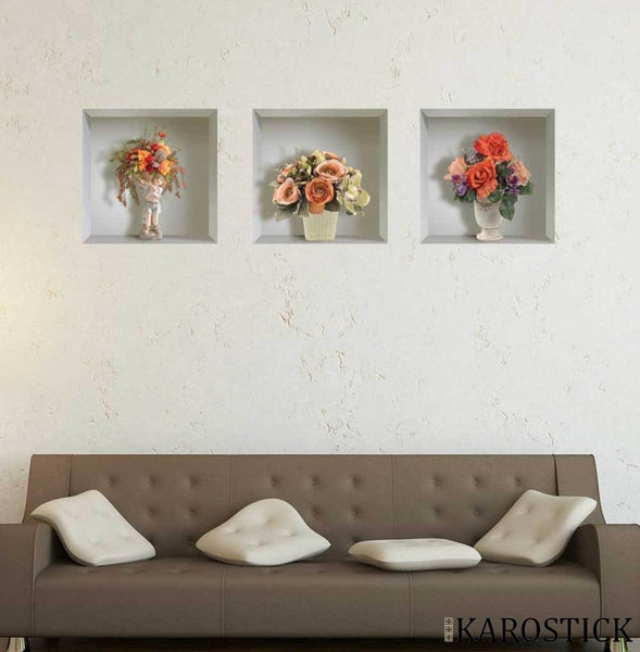 Sticker Effet 3D - Arrangement Floral