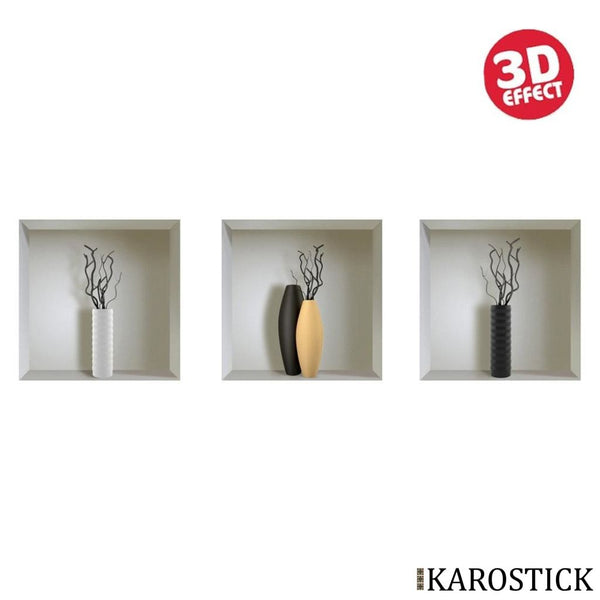 Sticker Effet 3D - Vases Design