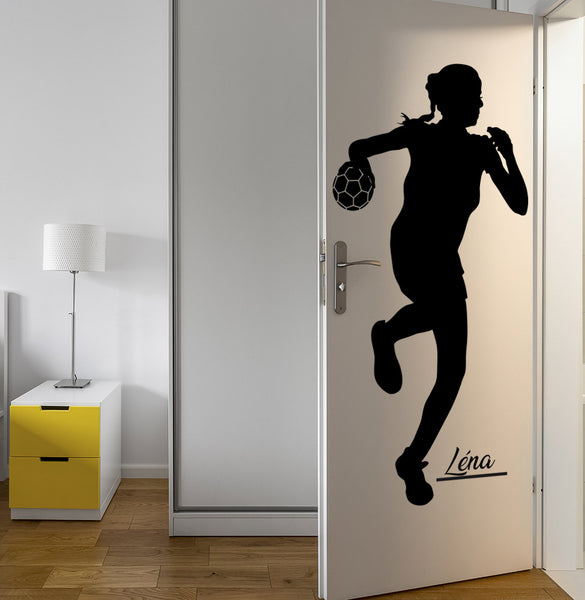 Sticker handball personnalisable - Fille