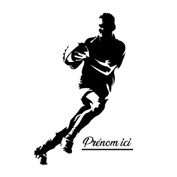 Sticker Rugby personnalisable