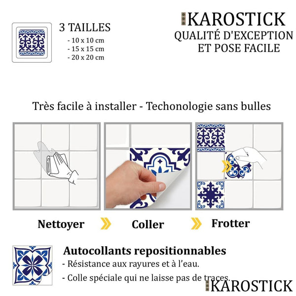 Stickers Carrelages - Carreaux Ciment Allures Andalouses