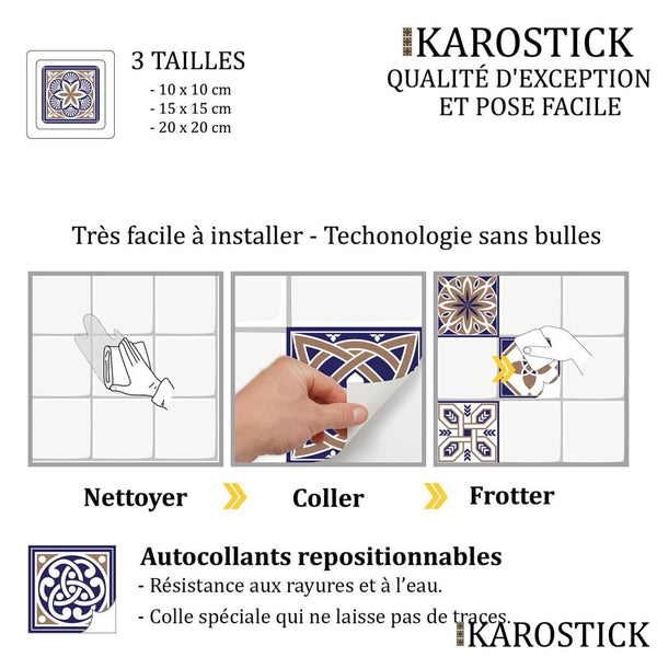 Stickers Carrelages - Carreaux Ciment Eloquence Royale