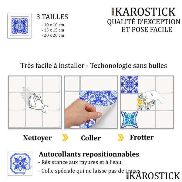 Stickers Carrelages - Carreaux Ciment Frénésie Latine