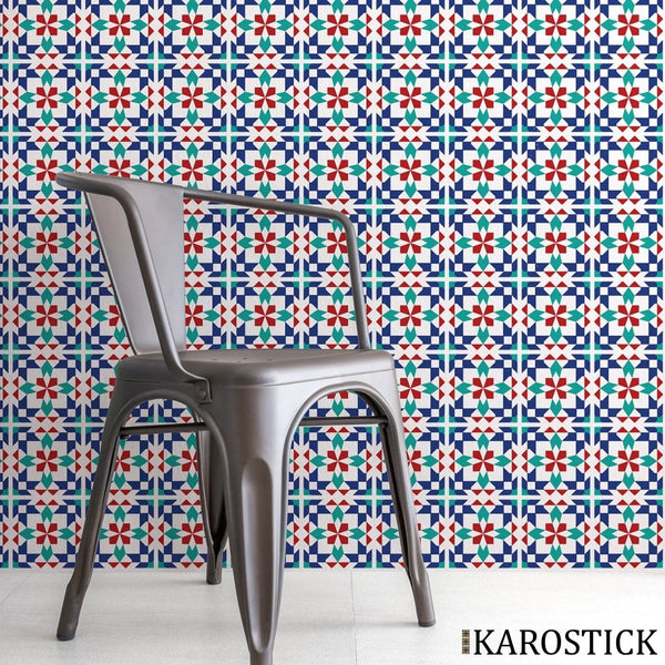 Stickers Carrelages - Carreaux Ciment Passion Marrakech