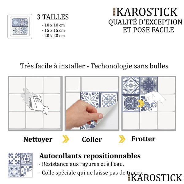 Stickers Carrelages - Carreaux Ciment Style Empreinte Ibérique