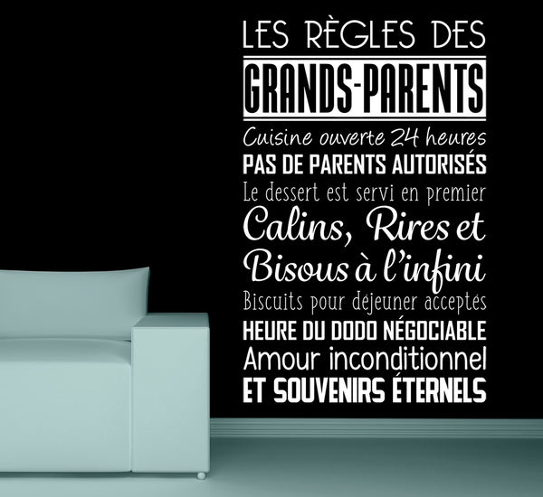 Sticker Les règles des grands-parents
