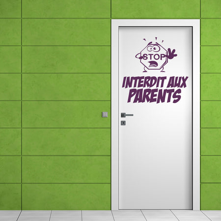 Sticker Interdit aux parents
