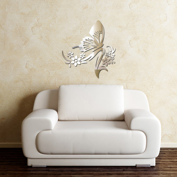 Sticker miroir - Le papillon