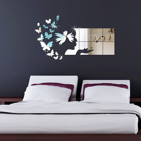 Sticker miroir - Papillons et Wall Art