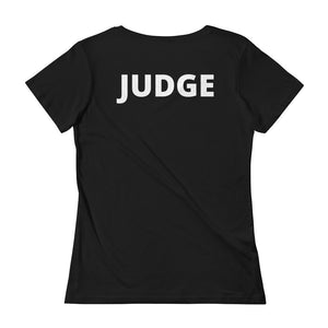 Ladies Scoopneck T-Shirt -Judge