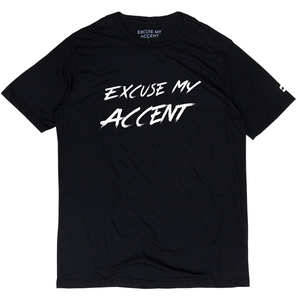 Excuse My Accent Brush Logo Tee (Black)