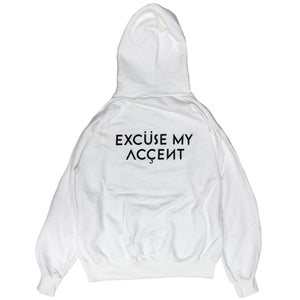 Excuse My Accent Hoodie (White)