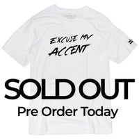 (SOLD OUT) Excuse My Accent Brush Logo Tee (White)