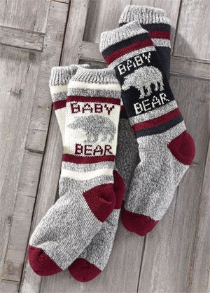 Baby Bear Family Reading Socks