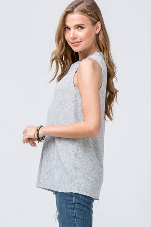V-Neck Placket Top