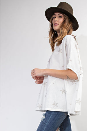 Star Print Swing Top