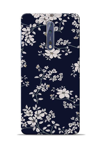 The Grey Flower Nokia 5 Mobile Back Cover